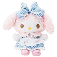 My melody gingham check dress plush doll Japan Sanrio Omekashi 426261