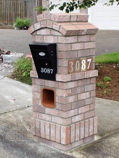 brick mailboxes | BRICK MAILBOX WITH PLANTER BRICK MAILBOX