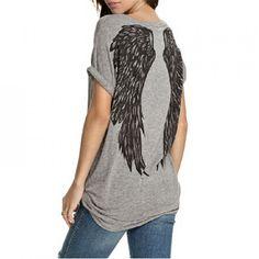 692b1f0757b9 Módní dámské triko s křídly na zádech Krissy - šedé - Pošta Zdarma Stylová  Móda