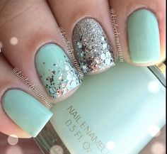 Love the mint green and sparkle