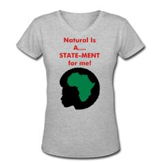 """Fanzyflaminfro Natural Hair GOD-Dess Real Talk Specialty Apparel   Your hair and what you wear can speak volumes; so why not let your FANZYFLAMINFRO Apparel do all the talking for you!!!! """"What you won't say your Apparel will!""""  Get your """"STATE-MENT"""" tee today; buy 2 or more items and get free shipping; http://fanzyflaminfro.spreadshirt.com/"""