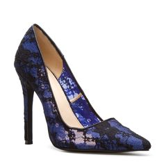 Adelice Blue Lace Heel