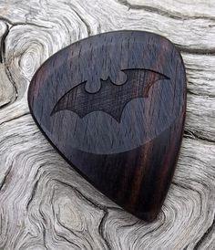 Handmade Premium Wood Guitar Pick Mun Ebony by NuevoWoodcrafts