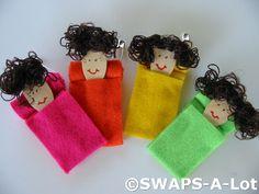 sleeping bag dolls...cute filler for tiny spots