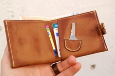 Personalized Leather wallet with by mbgfashionstudio on Etsy
