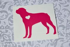 Rottweiler With Heart Dog iPhone Car Laptop by InfinityStickers