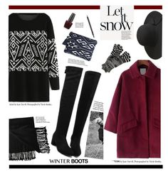 """Let it Snow'"" by dianefantasy ❤ liked on Polyvore featuring New Directions, OPI, Gucci, Sole Society, Missoni, polyvoreeditorial and winterboots"