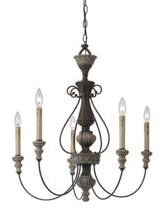 Cal Lighting FX-3535/5 5 Light Williams Metal Chandelier In Rust/Dapple Gray is made by the brand Cal Lighting. It has a part number of FX-3535/5.