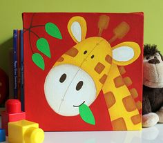 New Baby/Children's Gift  Jungle Animal Canvas  by SweetPeaCanvas, £28.00
