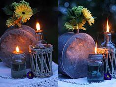 lampade ad olio e vecchi oggetti