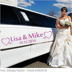 Autoaufkleber Hochzeit - Liebesglück