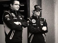 Lotus team principal Eric Boullier and Kimi Räikkönen - 2013 Canadian GP FP1