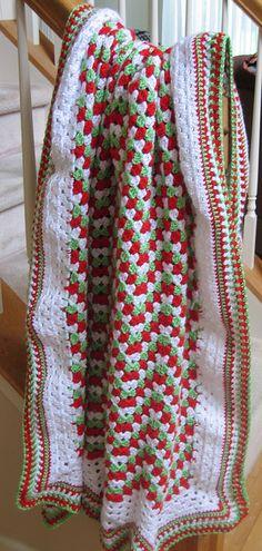 Jingle Bells, Granny Chevrons from 200 Ripple Stitch Patterns