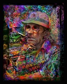 spectral jumbieart dr hunter s thompson print art banner