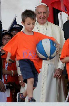 Pape François - Pope Francis - Papa Francesco - Papa Francisco - 7 juin : le Pape rencontre le monde du sport