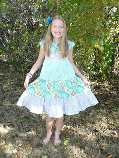 CKC's Lorelai's Tiered Ruffle Neck pdf sewing pattern is now available in tween sizes- 7/8-15/16! Gorgeous tiers for featuring your favorite fabric line.