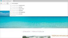 A címsorban megjelenő keresőtalálatok képernyőképe