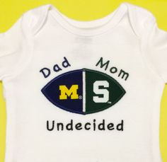 House Divided Baby Michigan State Spartans U by createdbyhishands