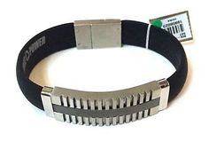 """Men's Stainless Steel Silicone Bracelet 7.75"""" Bangle Wristband     eBay Silicone Bracelets, Bangle Bracelets, Bangles, Stainless Steel Jewelry, Sale Items, Black Leather, Chain, Shop, Silver"""