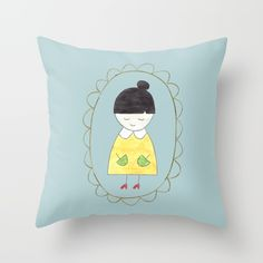 Little Dorothy Throw Pillow by Unicornlette | Society6