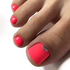 farbe Matte Pink Nails with Glitter Accent ★ Explore trend. Matte Pink Nails with Glitter Accent ★ Explore trendy and classy, cute and elegant toe nails designs for summer and beach vacation. You will love our easy ideas. Cute Nail Colors, Toe Nail Color, Nail Polish Colors, Toe Nail Polish, Shellac Colors, Bright Colors, Pretty Toe Nails, Cute Toe Nails, Pretty Pedicures
