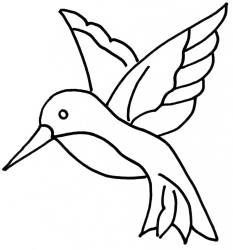 "Downloadable Quilting Stencils | Hummingbird 3"":"