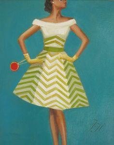 Janet Hill Janet Hill — The 'Not Yet Sick Of Chevron' Dress,2011 (1024х807)
