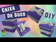 RECICLANDO CAIXA DE SUCO/LEITE :: Lembrancinha de Festa - YouTube