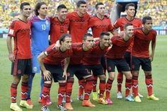 Alineación inicial de México vs Brasil #Brasil2014