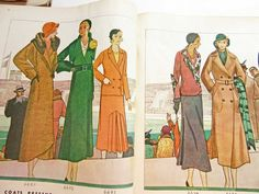 McCall 6686, 6672 and 6693 on the left page, 6674 and 66?? on the right page in McCall's magazine, October 1931