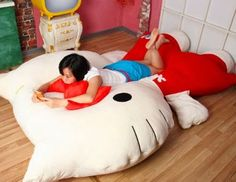 Supersize Hello Kitty Pillow Bed