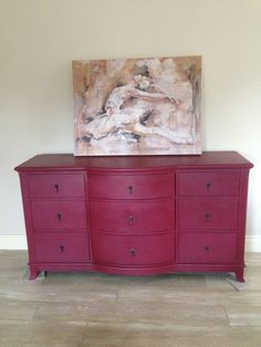 Annie Sloan Burgundy Sideboard Handpainted at Quaint #QuaintDrogheda #QuaintDundalk (annie sloan furniture yellow)