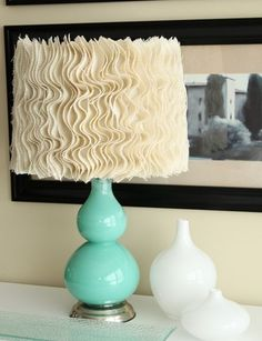Anthro inspired burlap lampshade #diy