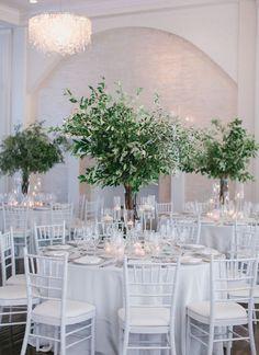 Зеленый декор столов