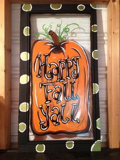 Old Painted Window Pumpkin shabbynicarts@facebook.com
