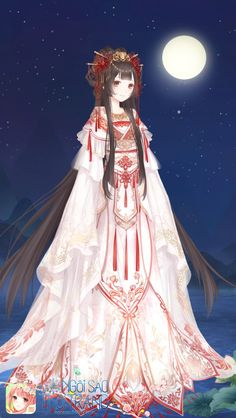 ngoi sao thoi trang Pretty Anime Girl, Beautiful Anime Girl, Kawaii Anime Girl, Anime Art Girl, Chinese Kimono, Nikki Love, Wedding Kimono, Anime Princess, Anime Dress