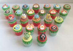 Angry Birds Theme Cupcakes