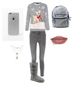 """""""Natale"""" by kilary on Polyvore featuring bellezza, MiH Jeans, UGG Australia, LA: Hearts e Charlotte Russe"""