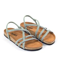 650b6a5caebd Cozy Sage Green Light Gray. Comfortable SandalsWomen s ...