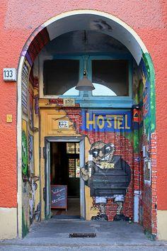 Berlin Hostel doorway
