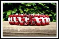 Hey, I found this really awesome Etsy listing at http://www.etsy.com/listing/106487790/alabama-crimson-tide-paracord-bracelet