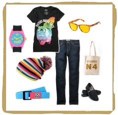 Colorful Outfit Inspiration: A-Lab Rainbow Cat Tee + Empyre Girl Logan Jeans