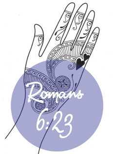 Bible stories & verses with henna. Romans 6:23