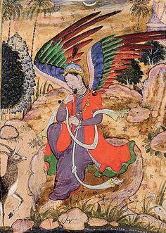 Angel, iranian miniature