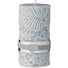 Lene Bjerre Crochet Candle 13cm - Glacier Grey (49 PLN) ❤ liked on Polyvore featuring home, home decor, candles & candleholders, grey, crochet home decor, leaves candle, grey candles, heart shaped candles and heart candles