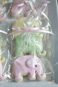 Onesie and Elephant Baby Shower Cookie Tutorial | Sweetopia