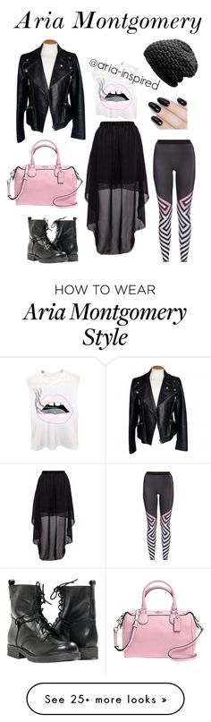 """Aria Montgomery"" by aria-inspired on Polyvore featuring Alexander McQueen, Ultracor, Paolo Shoes, Coach, Burton and ncLA"