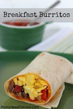 Easy Breakfast Burritos Recipe | Freezer Friendly Recipe!