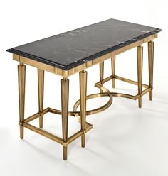 FRANCK CHARTRAIN ROYAL CONSOLE  €39,455 as shown  This one-of-a-kind console is expertly crafted from more than 100 pieces, each meticulously joined. The refinement of different textures, subtly shaded patinas and the dark marble top emphasize a feeling of luxuriousness.