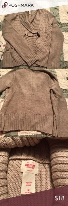 Brown/cinnamon colored cardigan size:M Perfect over a cream, white, or beige cami with jeans!  Has 1 button toggle closure. Mossimo Supply Co Sweaters Cardigans